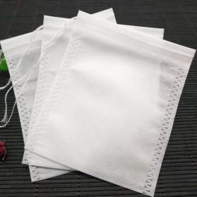 Miss Rose Kantung Filter Saringan Teh Teabag Drawstring Disposable 9 x 10 cm 100 PCS - M100 - White - 7
