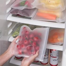 Amil Kantong Plastik Organizer Makanan Silicone Food Bag Ziplock Size L - B0271 - Transparent