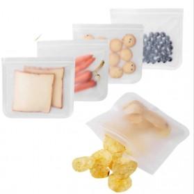 Amil Kantong Plastik Organizer Makanan Silicone Food Bag Ziplock Size L - B0271 - Transparent - 2