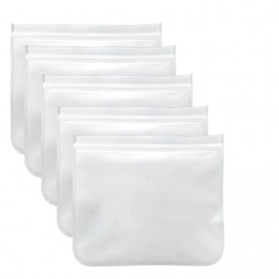 Amil Kantong Plastik Organizer Makanan Silicone Food Bag Ziplock Size L - B0271 - Transparent - 3