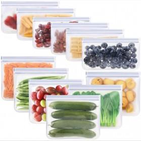 Amil Kantong Plastik Organizer Makanan Silicone Food Bag Ziplock Size L - B0271 - Transparent - 5