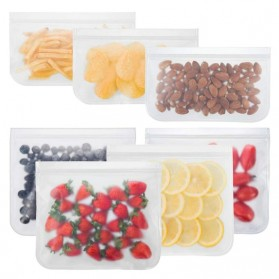 Amil Kantong Plastik Organizer Makanan Silicone Food Bag Ziplock Size L - B0271 - Transparent - 6