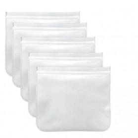 Amil Kantong Plastik Organizer Makanan Silicone Food Bag Ziplock Size S - B0271 - Transparent - 3