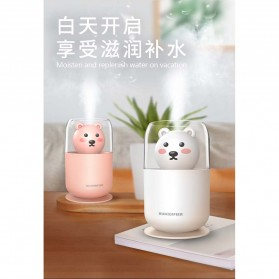 ISHOWTIENDA Humidifier Pelembab Udara Aromatherapy Oil Diffuser Cute Design 300ml - Y06 - White