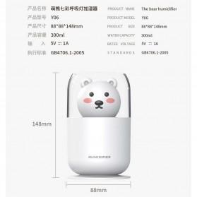 ISHOWTIENDA Humidifier Pelembab Udara Aromatherapy Oil Diffuser Cute Design 300ml - Y06 - White - 11