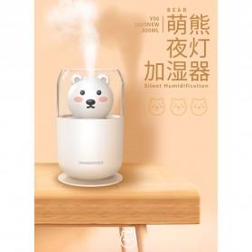 ISHOWTIENDA Humidifier Pelembab Udara Aromatherapy Oil Diffuser Cute Design 300ml - Y06 - White - 2