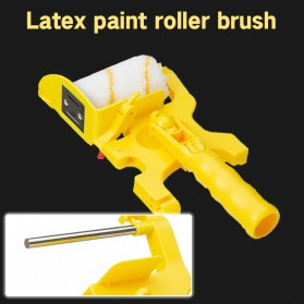 Home-Life Kuas Cat Tembok Roller Paint Clean-Cut Edger Brush Set - HOM5 - Yellow - 5