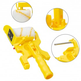 Home-Life Kuas Cat Tembok Roller Paint Clean-Cut Edger Brush Set - HOM5 - Yellow - 8