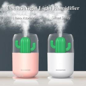 HIMIST Air Humidifier Pelembab Udara Aromatherapy Oil Diffuser Desain Kaktus 300ML - Y07 - White