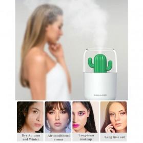 HIMIST Air Humidifier Pelembab Udara Aromatherapy Oil Diffuser Desain Kaktus 300ML - Y07 - White - 6