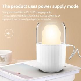 HIMIST Air Humidifier Pelembab Udara Aromatherapy Oil Diffuser Desain Cat Paw 300ML - M206 - White