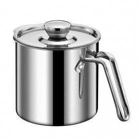 Hsinchu Tempat Penyimpanan Minyak Oil Can Stainless Steel 1300ml With Filter - J9789 - Silver