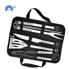 GLANYOMI Peralatan Panggang Daging BBQ Spatula Grill Set 10 in 1 - VWN-102 - Silver - 2