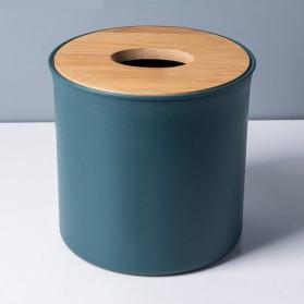 TaffHOME Kotak Tisu Kayu Solid Wood Tissue Box Model Tabung - ZJ013 - Green - 3