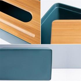 TaffHOME Kotak Tisu Kayu Solid Wood Tissue Box Model Tabung - ZJ013 - Green - 5