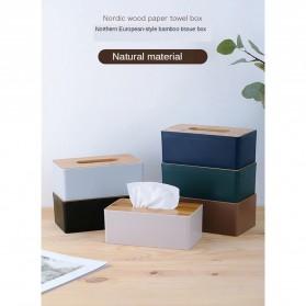 TaffHOME Kotak Tisu Kayu Solid Wood Tissue Box Model Tabung - ZJ013 - Green - 6