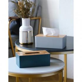 TaffHOME Kotak Tisu Kayu Solid Wood Tissue Box Model Tabung - ZJ013 - Green - 8