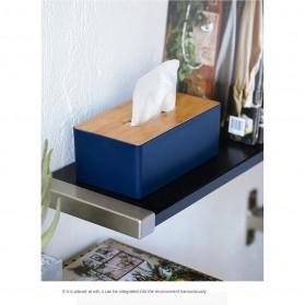 TaffHOME Kotak Tisu Kayu Solid Wood Tissue Box Model Tabung - ZJ013 - Green - 9