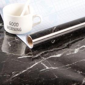DICOR Sticker Wallpaper Meja Dinding Dapur Anti Minyak Waterproof 1 Meter - WGFYT4B - Black