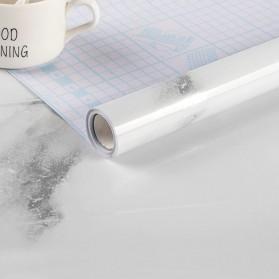 DICOR Sticker Wallpaper Meja Dinding Dapur Anti Minyak Waterproof 1 Meter - WGFYT4B - White