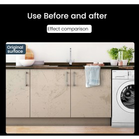 DICOR Sticker Wallpaper Meja Dinding Dapur Anti Minyak Waterproof 2 Meter - WGFYT4B - Black - 12