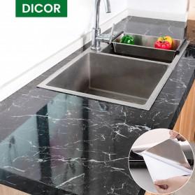 DICOR Sticker Wallpaper Meja Dinding Dapur Anti Minyak Waterproof 2 Meter - WGFYT4B - Black - 2