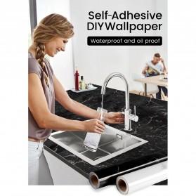 DICOR Sticker Wallpaper Meja Dinding Dapur Anti Minyak Waterproof 2 Meter - WGFYT4B - Black - 7