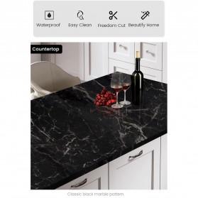 DICOR Sticker Wallpaper Meja Dinding Dapur Anti Minyak Waterproof 2 Meter - WGFYT4B - Black - 8