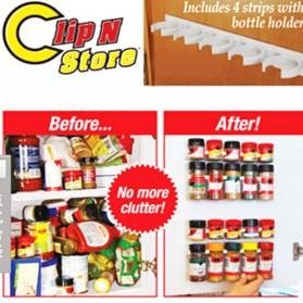 BearPaw Rak Gantung Botol Bumbu Dapur Spice Bottle Storage Rack 4 PCS - G55 - White - 3