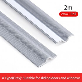 SERENELS Lis Penghalang Debu Serangga Bawah Pintu Door Bottom Soundproof Sealing Strips 2mx30mm - BWG39 - Gray