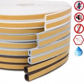 MIFENGTIAO Lis Penghalang Debu Serangga Bawah Pintu Door Bottom Soundproof Sealing Strips Tipe D 2x2.5m - ESPV5 - Black - 2