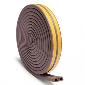 MIFENGTIAO Lis Penghalang Debu Serangga Bawah Pintu Door Bottom Soundproof Sealing Strips Tipe D 2x2.5m - ESPV5 - Black - 6