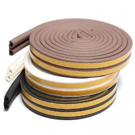 MIFENGTIAO Lis Penghalang Debu Serangga Bawah Pintu Door Bottom Soundproof Sealing Strips Tipe D 2x2.5m - ESPV5 - Black - 7