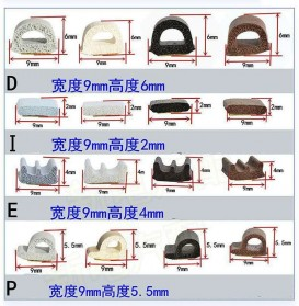 MIFENGTIAO Lis Penghalang Debu Serangga Bawah Pintu Door Bottom Soundproof Sealing Strips Tipe D 2x2.5m - ESPV5 - Black - 8