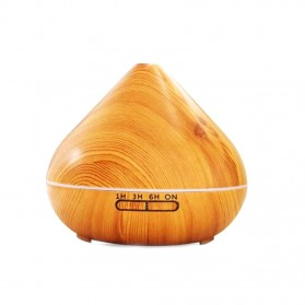 ZIFENGZHILIAN Air Humidifier Aromatherapy Oil Diffuser RGB Light Wood Design 500ml - ZN030 - Wooden