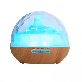 ZIFENGZHILIAN Air Humidifier Aromatherapy Oil Diffuser RGB Light Ceramic Wood Design 500ml - ZN082 - Wooden