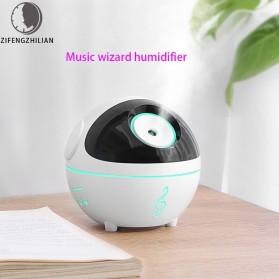 ZIFENGZHILIAN Air Humidifier Aromatherapy Oil Diffuser Music Elves Light 350ml - ZN054 - White