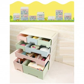 ALEQO Kotak Barang Organizer Stackable Storage Box 3 Door Small - H-1066 - White - 10