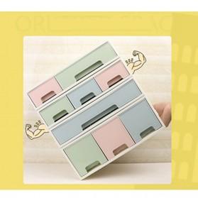 ALEQO Kotak Barang Organizer Stackable Storage Box 3 Door Small - H-1066 - White - 12
