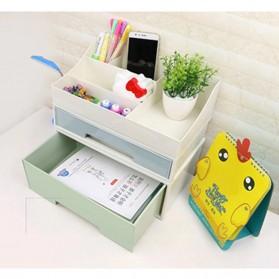 ALEQO Kotak Barang Organizer Stackable Storage Box 3 Door Small - H-1066 - White - 13