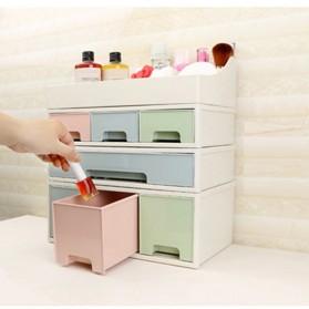 ALEQO Kotak Barang Organizer Stackable Storage Box 3 Door Small - H-1066 - White - 14