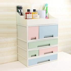 ALEQO Kotak Barang Organizer Stackable Storage Box 3 Door Small - H-1066 - White - 2