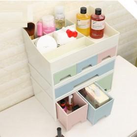 ALEQO Kotak Barang Organizer Stackable Storage Box 3 Door Small - H-1066 - White - 5