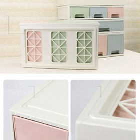 ALEQO Kotak Barang Organizer Stackable Storage Box 3 Door Small - H-1066 - White - 6