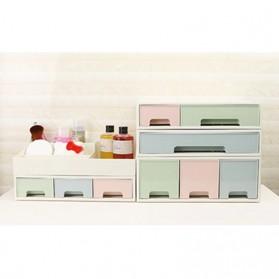 ALEQO Kotak Barang Organizer Stackable Storage Box 3 Door Small - H-1066 - White - 9