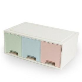 BNBS Kotak Barang Organizer Stackable Storage Box 3 Door Big - BN-2045 - White