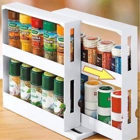 BearPaw Rak Botol Bumbu Dapur Spice Bottle Storage Rack 2 Layer - G56 - White