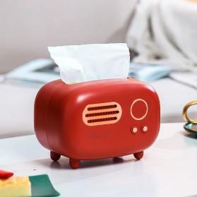 TopSung Kotak Tisu Model Retro Radio Tissue Box - ZJ104 - Red