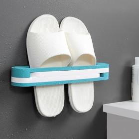 Housewear Rak Sepatu 3 in 1 Slipper Wall Hanging Folding Rack - HW31 - Blue