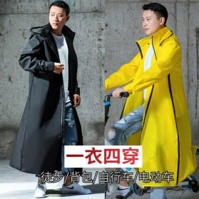 SAFEBET Jas Hujan Karet Minimalis Poncho Rubber Raincoat XL - YX-029 - Black